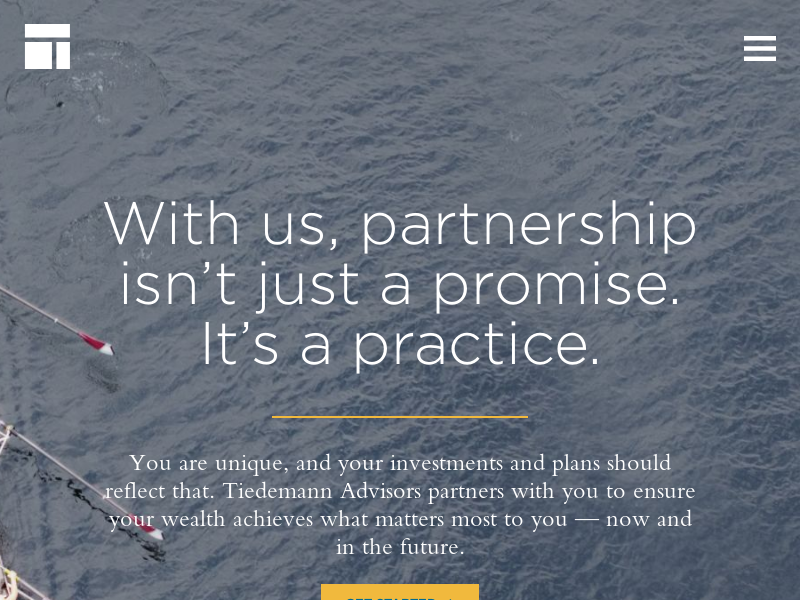Tiedemann Advisors Wealth Management Firm | Partnership is Our Practice