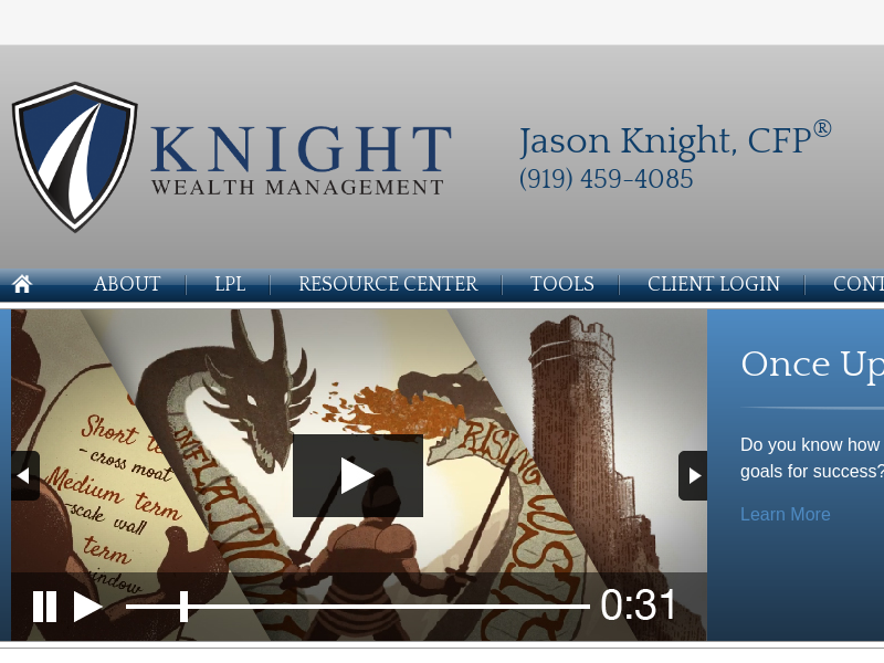 Jason Knight, certified financial planner with Knight Wealth Management in Cary, NC