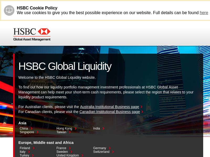 GBP Money Market Funds | HSBC Global Liquidity UK