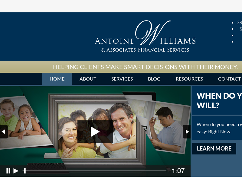 Home | Antoine Williams & Associates Financial Services