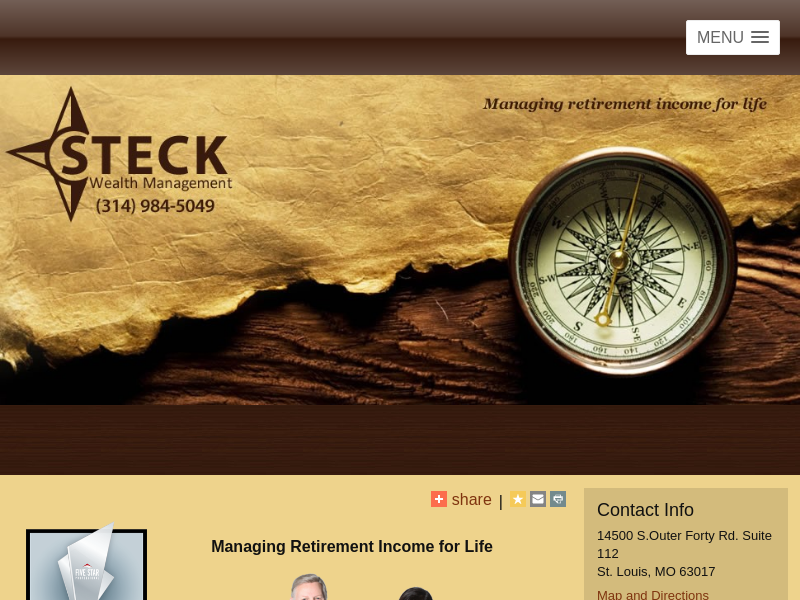 Retirement Planning and Wealth Management - Steck Wealth Management