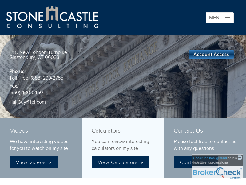 Financial Services by StoneCastle Consulting in Glastonbury, CT