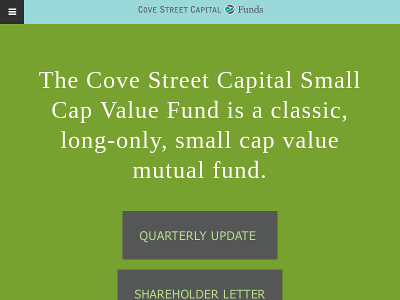 Cove Street Funds   Cove Street Funds