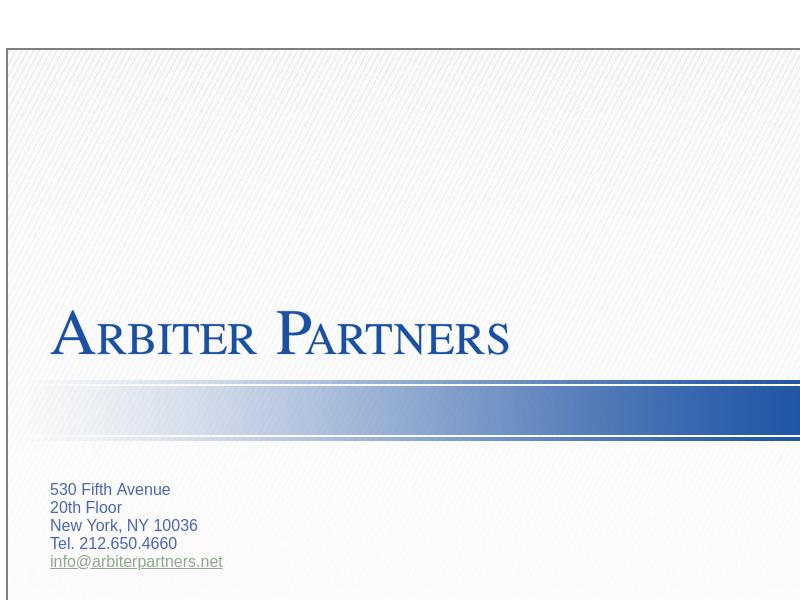 Arbiter Partners