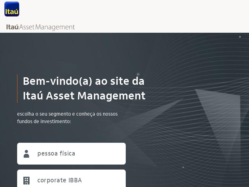 Itaú Asset Management - Escolha seu segmento