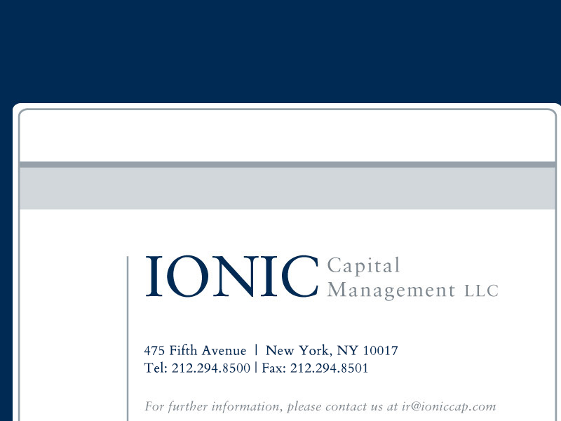 Ionic Capital Management