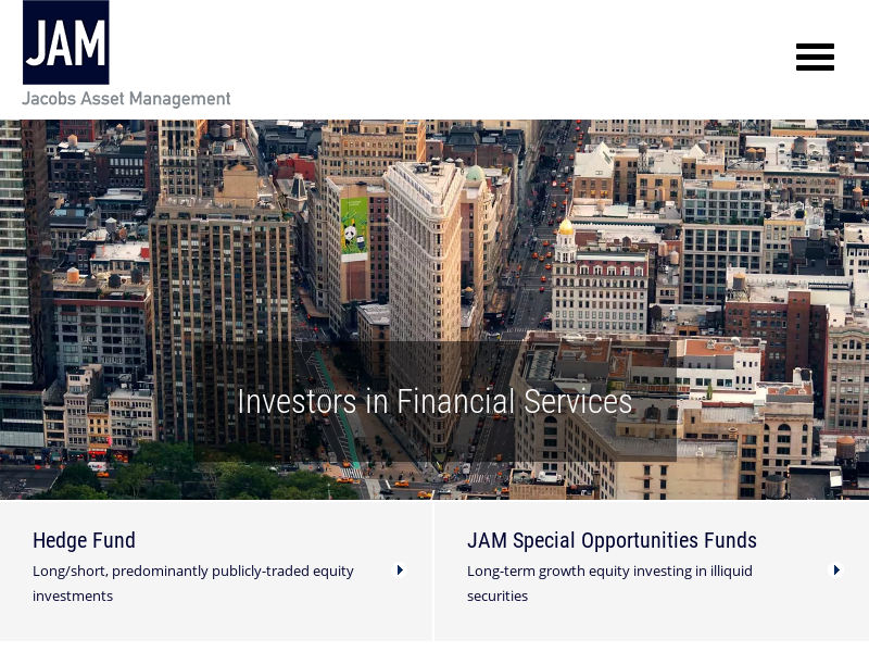 Jacobs Asset Management | An established money manager focused exclusively on investing in the financial services space.