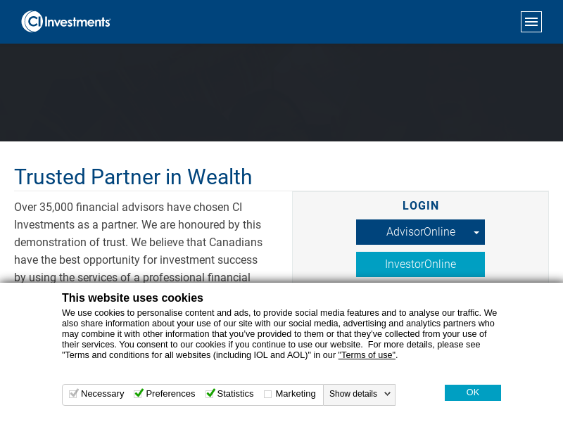 Homepage  | CI Investments