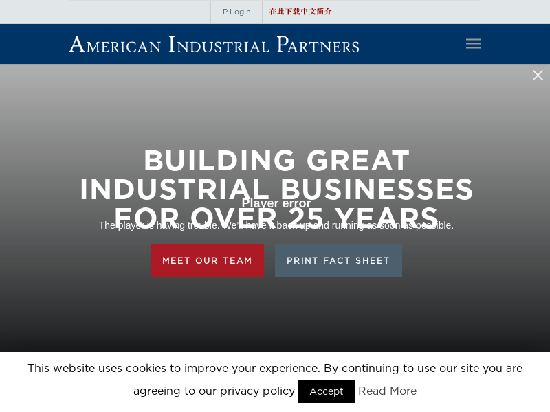 American Industrial Partners - 25 Years of Success