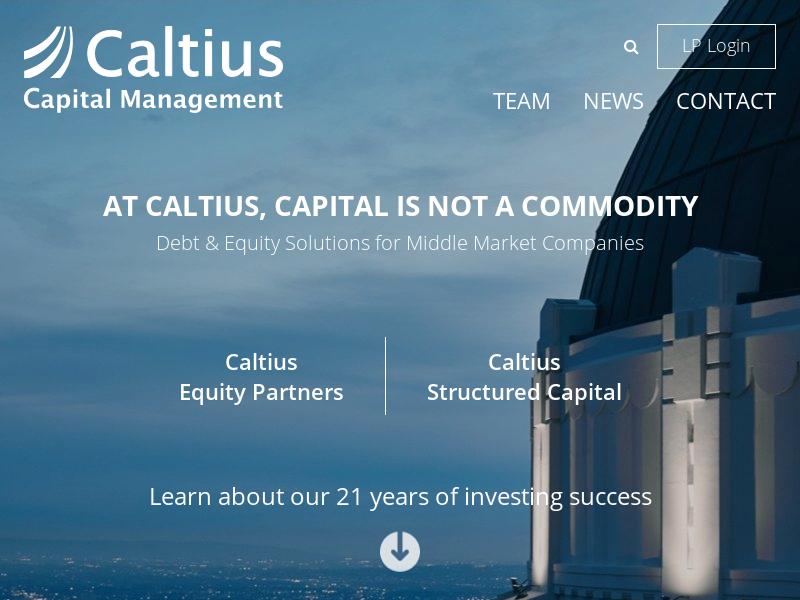 Caltius Capital Management - Caltius