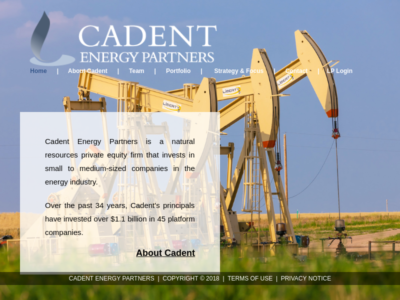 Welcome to Cadent Energy Partners
