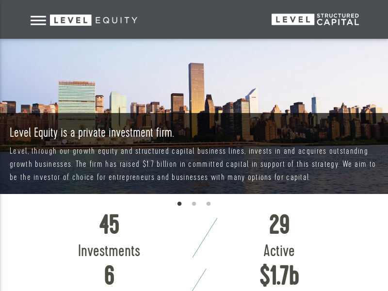 Level Equity: Growth Equity Investor