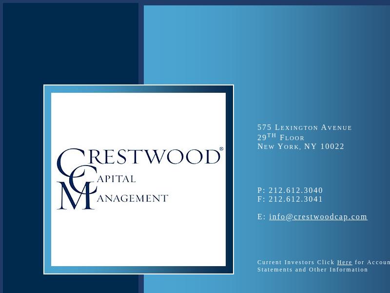 Crestwood Capital Management