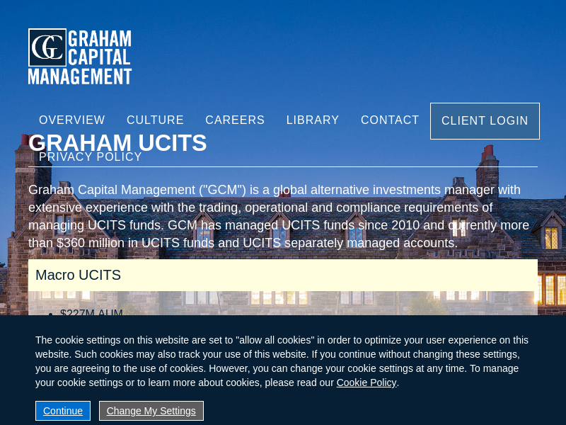 Welcome To Graham Capital Management