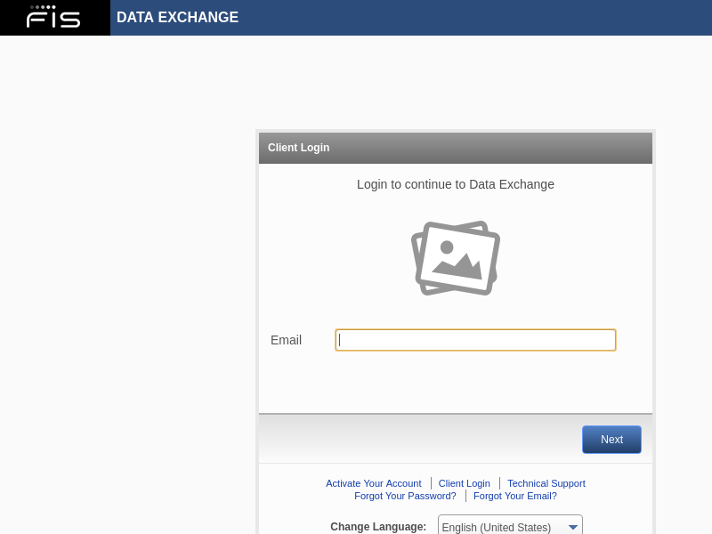 Client Login - Data Exchange