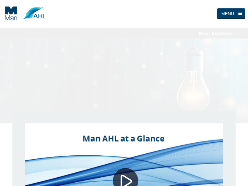 Man AHL - a leading quantitative investment manager