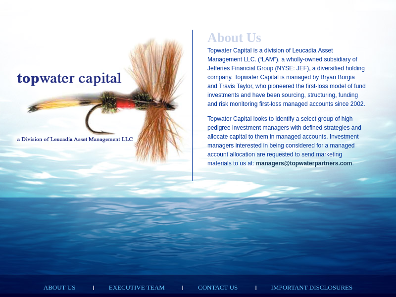 Topwater Capital Partners: About Us