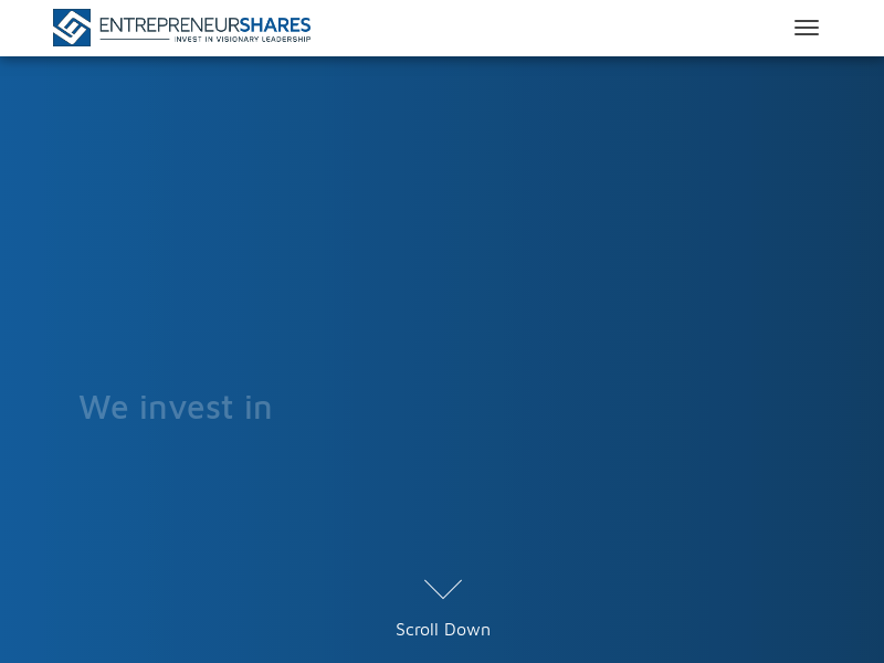 EntrepreneurShares – EntrepreneurShares invests in organizations that emphasize entrepreneurial culture, organic growth, and aligned compensation. Investing in companies based on our core fundamental characteristics will provide the foundation to build…