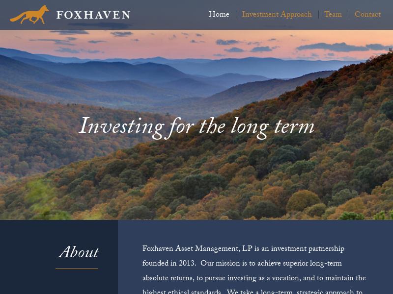 Home | Foxhaven Asset Management