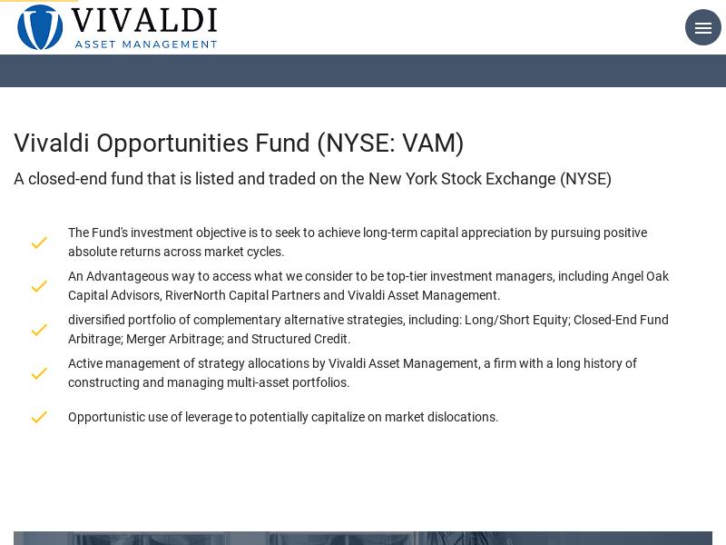 VAM | Vivaldi Opportunies Fund