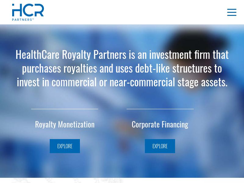 Home | HealthCare Royalty Partners