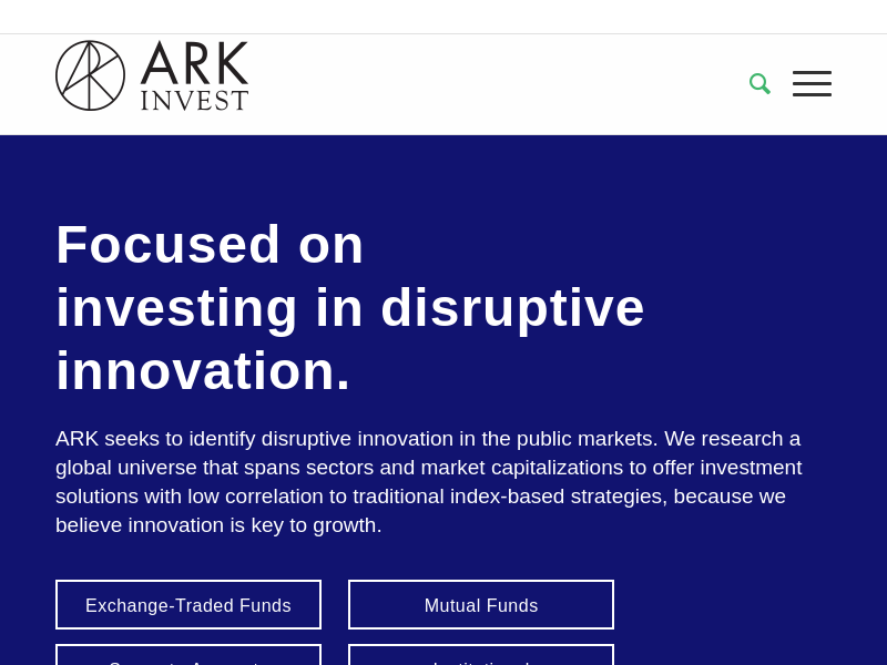 ARK Invest | Innovation Is Key to Growth and Alpha