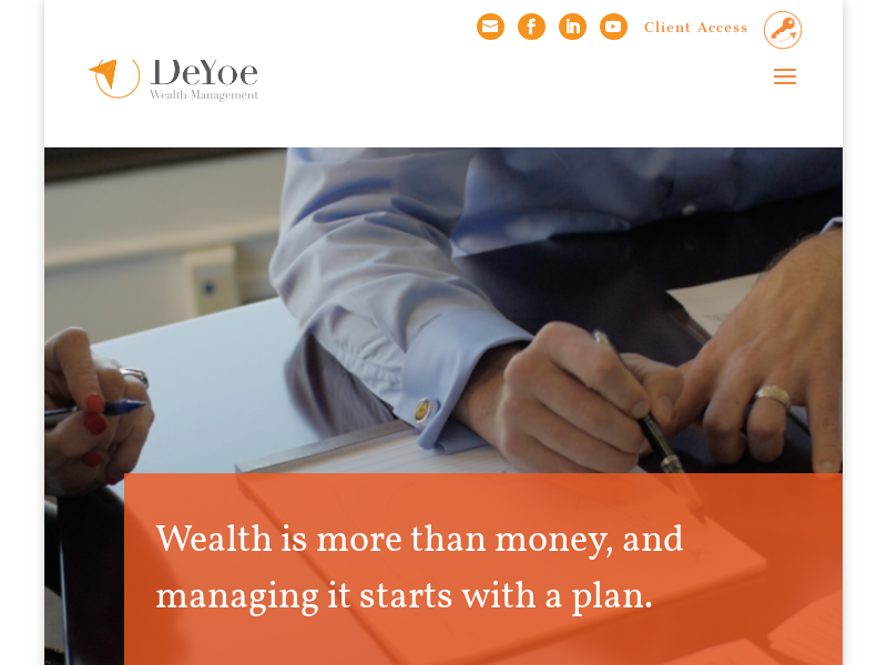 DeYoe Wealth Management | Let's talk about your financial future
