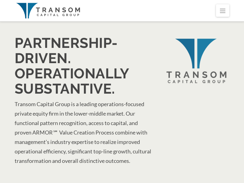 Home - Transom Capital Group