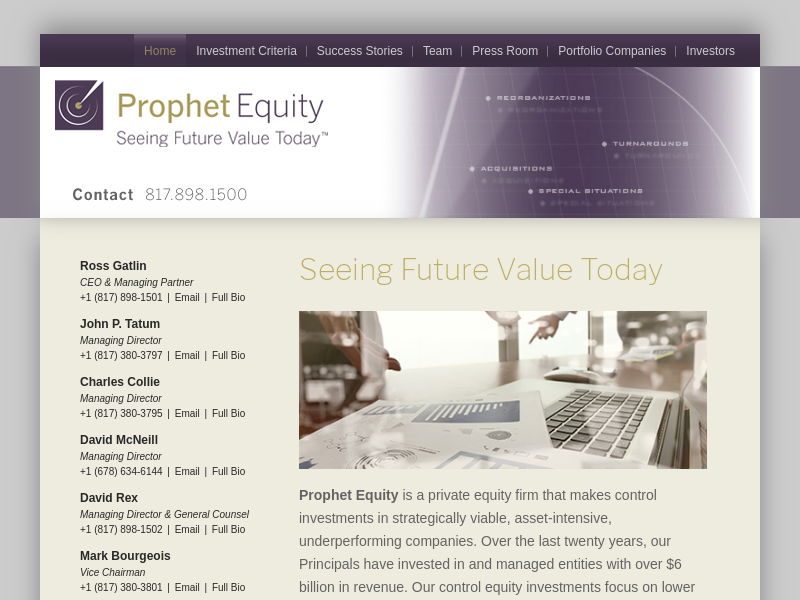 Seeing Future Value Today - Prophet Equity