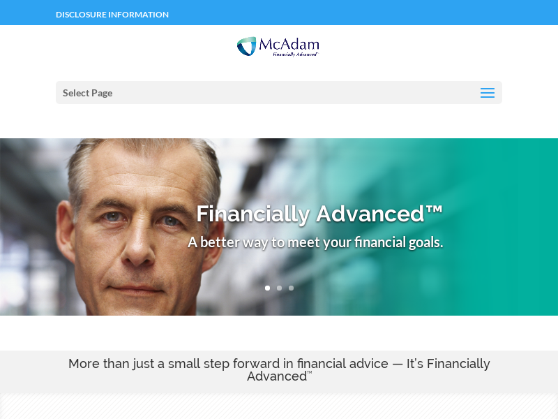 McAdam - Financially Advanced. Contact an advisor today for a free consultation.