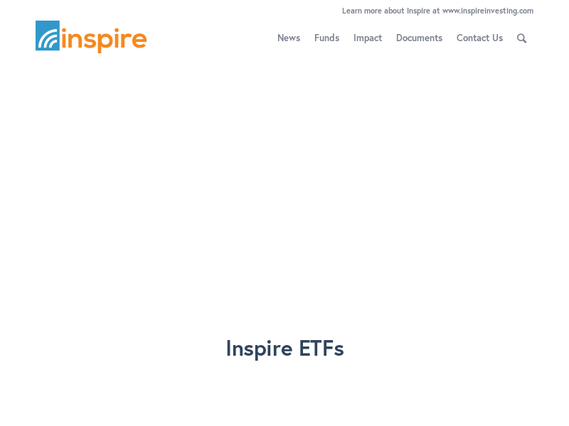 Inspire Investing – Low cost, high impact, biblically responsible investing.