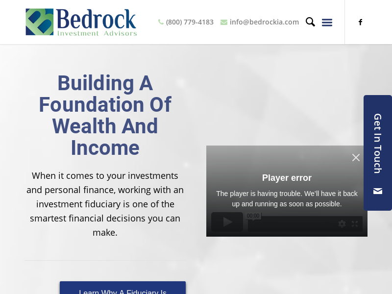 Homepage - Bedrockia