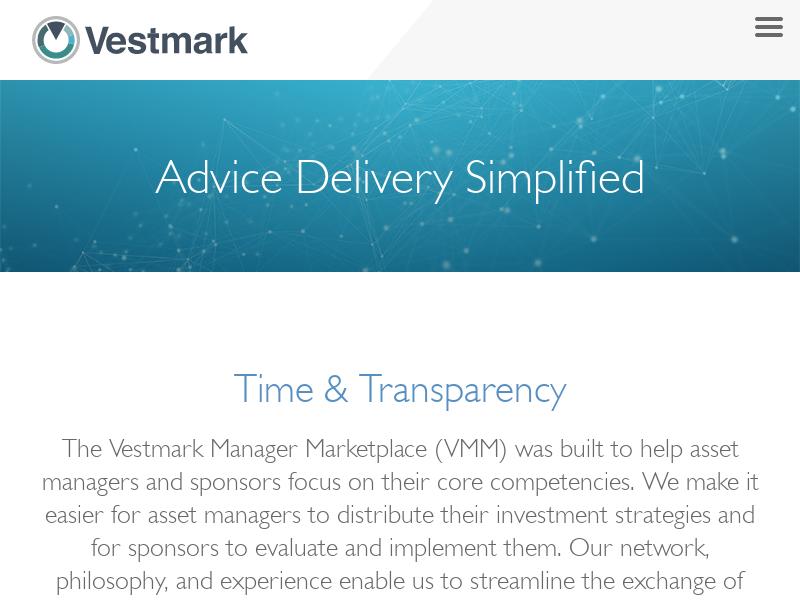 Vestmark Manager Marketplace