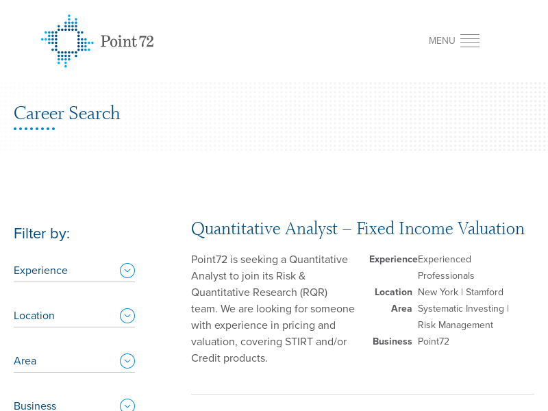 Point72 - Career Search