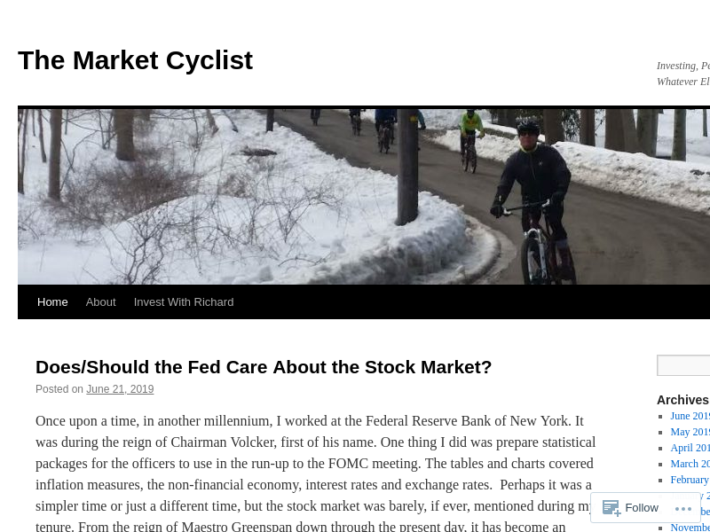 The Market Cyclist | Investing, Personal Finance, Cycling and Whatever Else Comes to Mind