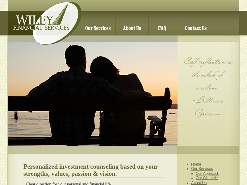 Wiley Financial Services - Personalized investment counseling based on your strengths, values, passion & vision.