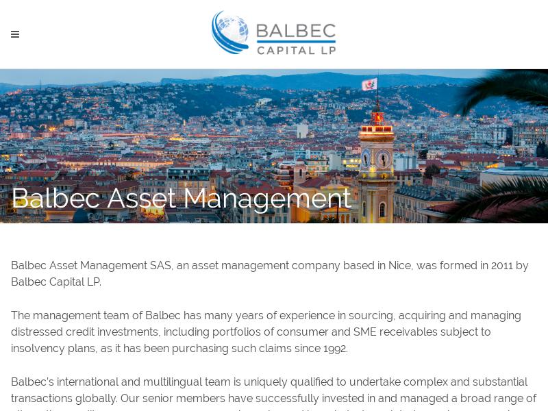 BALBEC ASSET MANAGEMENT