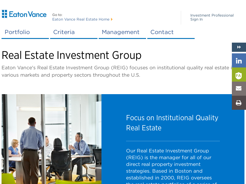 Real Estate Investment Group | Eaton Vance