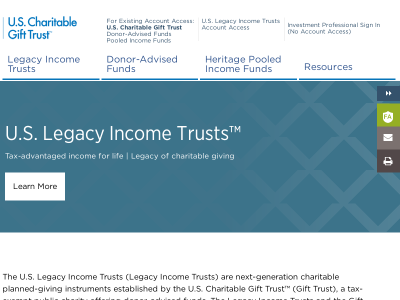 U.S. Charitable Gift Trust | US Charitable Gift Trust