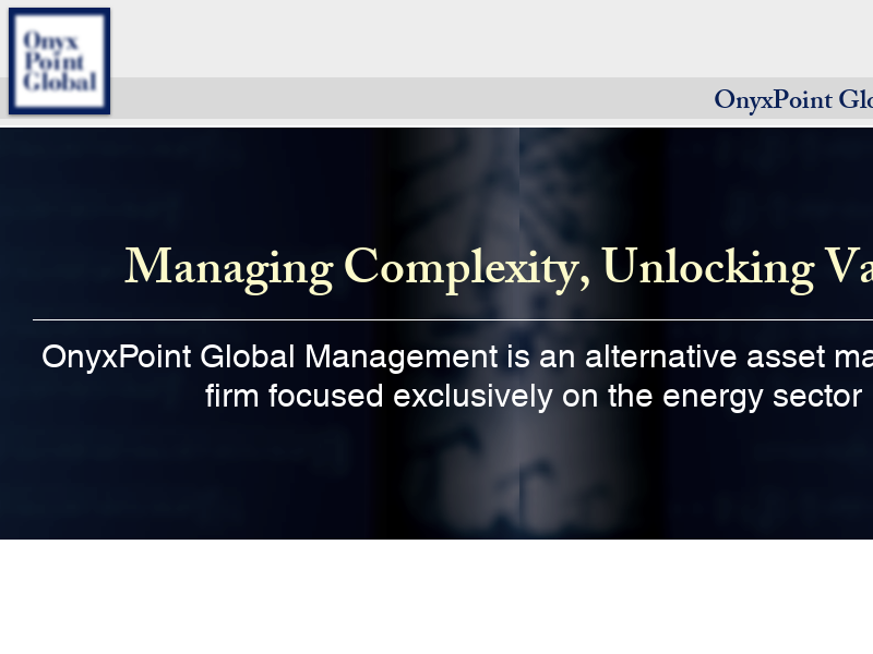 OnyxPoint Global Management | Energy Private Equity | United States