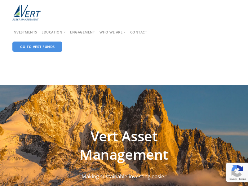 Sustainable Investing | Vert Asset Management