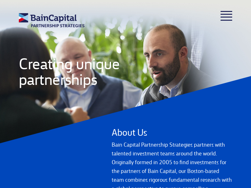 Bain Capital Partnership Strategies
