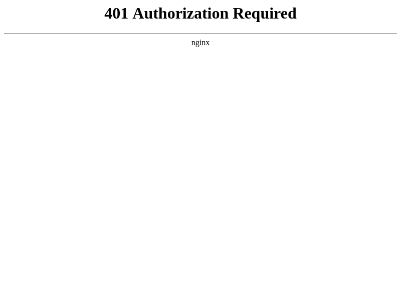 401 Authorization Required
