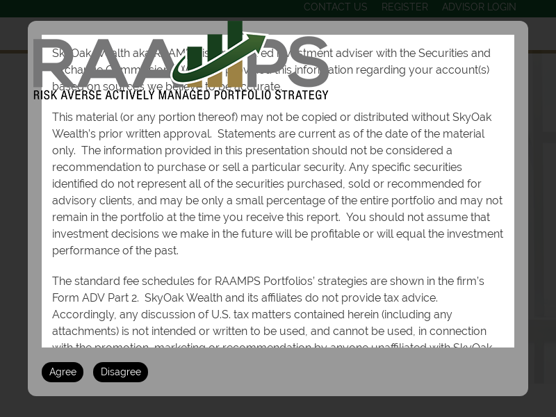 RAAMPS - Risk Averse Actively Managed Portfolio Strategy