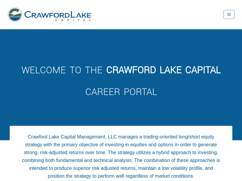 Careers | Crawford Lake Capital Management