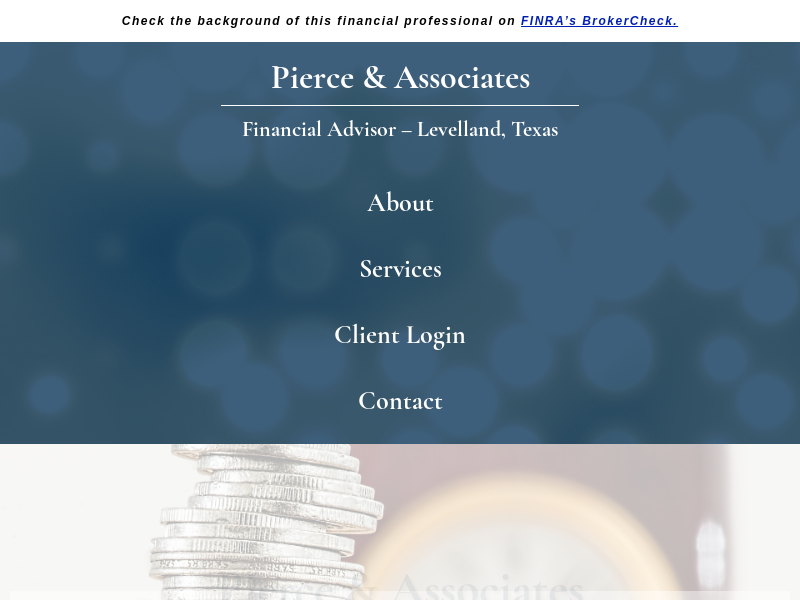 Pierce & Associates | Financial Advisors | Leveland, Texas