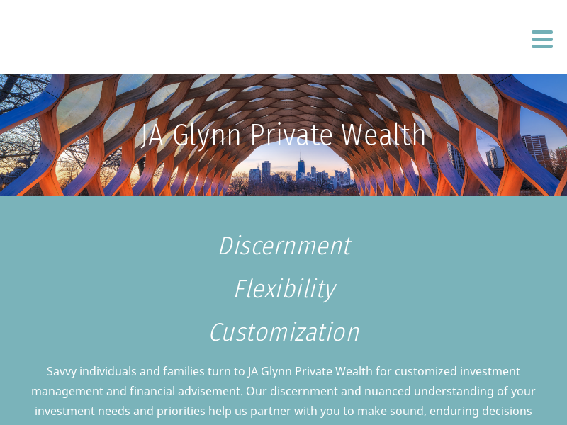 Custom Wealth Management for Individuals and Families | JA Glynn