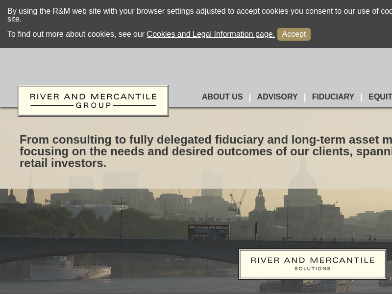RIVER AND MERCANTILE GROUP Splash page