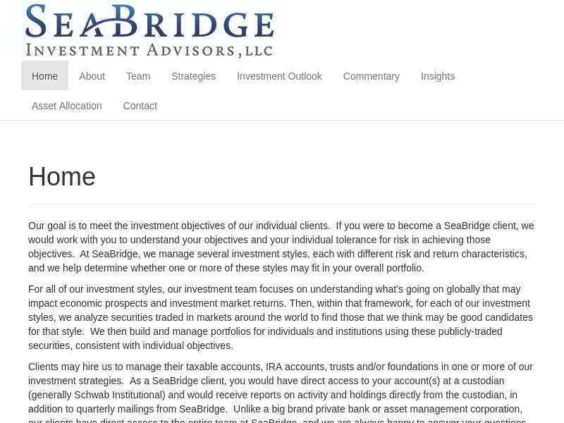 SeaBridge Investment Advisors, LLC