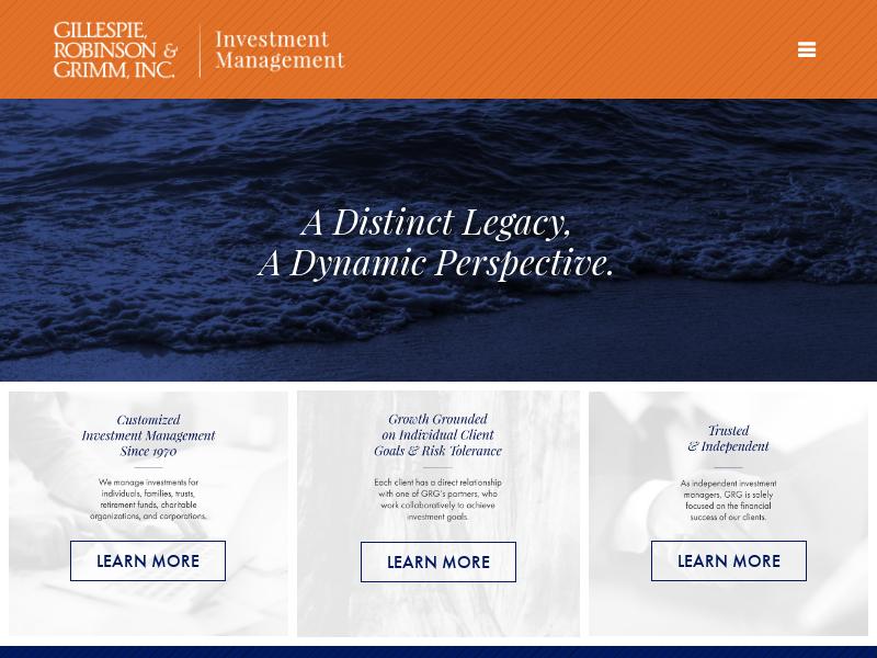Investment Management   Gillespie, Robinson & Grimm, Inc.